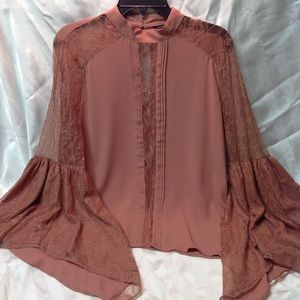 Express lace romance with bell sleeve